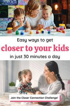 If you are looking for easy activity ideas to try with your kids to connect and enjoy happy moments together, I want to invite you to join this FREE 7-day challenge!