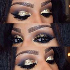SHAYLA @makeupshayla Gold Glittery NYE...Instagram photo | Websta (Webstagram)