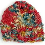 Simple multi hued cap