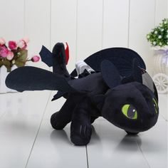 Toothless Night Fury - RedGlobe HOW TO TRAIN YOUR DRAGON PLUSH Toothless Night Fury plush Toys for children doll *** Discover even more concerning the terrific item at the picture link. (This is an affiliate link). Toothless Night Fury, Toothless Dragon, Dragon 2, Dragon Birthday, Dragon Party, How To Train Your, How Train Your Dragon, Httyd, Plush Dolls