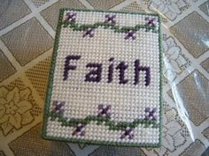 Grace Faith Hope Love Tissue Box Cover by stitchesoflight on Etsy, $10.00