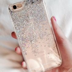 Repost from @04.54am - so glad you love your new Silver Liquid Glitter case by us! Tap the link in our bio to shop!