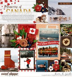 It's a special year for Canada and this beautiful collaboration from KCB and DSI is perfect to celebrate this beautiful country, 150 years in the making! Available at Sweet Shoppe Designs! Disney Scrapbook, Travel Scrapbook, Scrapbook Pages, Scrapbook Layouts, Project Life Layouts, Digital Scrapbooking Layouts, Canada Day, Photo Journal, Epcot