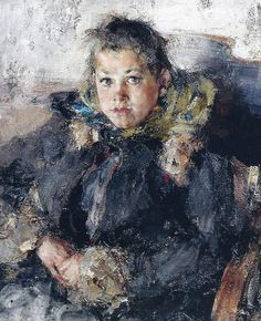 Nicolai Fechin Portrait of a Girl 1910, Oil on canvas, Art Museum, Kirov