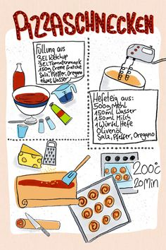 Just Add Magic, Kitchen Drawing, Creative Food Art, Sketch Notes, Tasty, Yummy Food, Party Buffet, Food Illustrations, Hand Lettering
