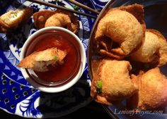 Crab Rangoons.  Made the sweet and sour sauce, very good.