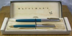 Waterman C/F fountain pen, Canadian production, boxed with pencil