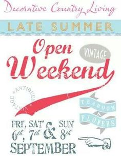 Well worth a visit. Late Summer, Country Living, Spaces, Vintage, Decor, Country Life, Decoration, Vintage Comics, Outdoor Life
