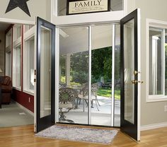 Escape double screen door | Larson Storm Doors  Let in the breeze, not the bugs! These retractable screen doors are perfect for openings that might not come with screen options--like french doors!