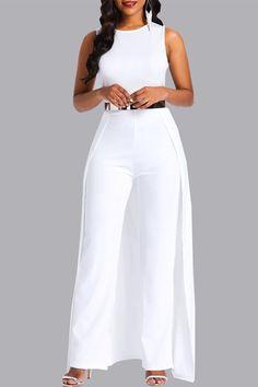 African Fashion Full Length Plain Slim Women's Jumpsuit(No Belt) Asos Jumpsuit, Gold Jumpsuit, Petite Jumpsuit, Overalls Women, Looks Chic, Jumpsuits For Women, Chic Outfits, African Fashion, Womens Fashion