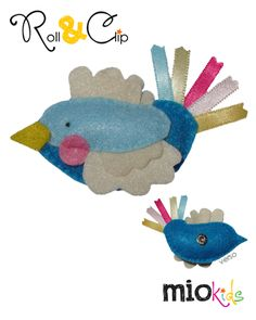 Blue bird Mio character to use with Roll & Clip bands.