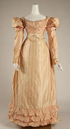 Dress ca. 1822 via The Costume Institute of the Metropolitan Museum of Art