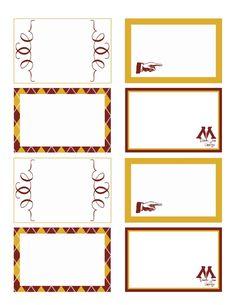 Harry Potter Food Tag Printables