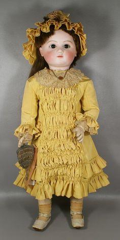 Antique French Jules Steiner Doll, pressed bisque head : Lot 4075