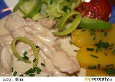 """Kuřecí """"Gyros"""" ve smetanové omáčce Food And Drink, Meat, Chicken, Recipes, Blog, Kochen, Beef, Food Recipes, Rezepte"""