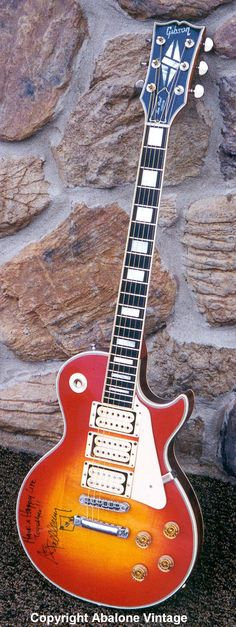 1977 Gibson Les Paul Custom Guitar owned by Ace Frehley of KISS.