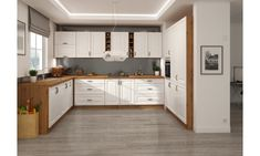 Luxusní rohová kuchyně Spring, dub artisan/bílý mat Provence, Kitchen Cabinets, Furniture, Design, Home Decor, Appointments, Google, Products, Decoration Home