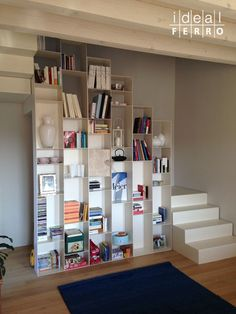 Bookshelves, Bookcase, Tyni House, Narrow House, Scale Design, Modern Staircase, Home Reno, Diy Furniture, Sweet Home