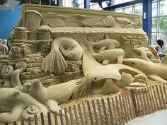 Sea life sand sculpture | by nayukim