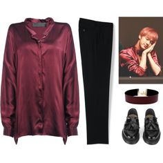 Blood, Sweat, & Tears || Jin Inspired Outfit by jungshook on Polyvore featuring Lands' End, Haider Ackermann, YMC, Vanessa Mooney, men's fashion and menswear