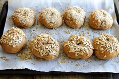 These Whole Wheat Bagels are easier than you think! Less than one hour of hands-on time and the result is a delicious and healthy bagel!