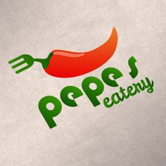 "Logo design for ""Pepes Eatery"" by Fandango Media Group. Order a custom logo for your restaurant today! http://www.fandangomediagroup.com #restaurantlogo #logo #graphicdesign"