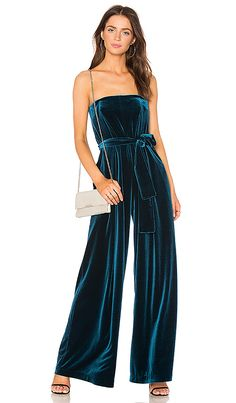 Shop for NICHOLAS Strapless Velvet Jumpsuit in Dark Teal at REVOLVE. Free 2-3 day shipping and returns, 30 day price match guarantee.