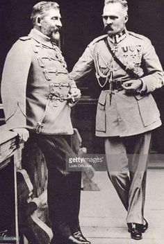Marshal Jozef Pilsudski during his first visit to Romania, with King Ferdinand I of Romania. Bucharest, Romania, September 1922.