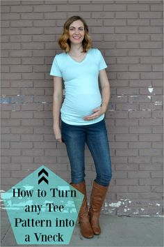 How to turn any tee pattern into a V neck…