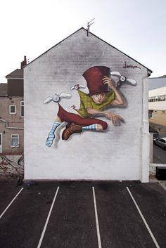 Street Artist: Lonac in Blackpool