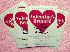 Valentine Brunch Party Invites