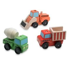 Melissa & Doug® Stacking Construction Vehicles - BedBathandBeyond.com