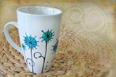 Tazze & Tazzine - tazza mug americano dipinto a mano in blu turchese - un prodotto unico di Luciana-Torre-SHOP su DaWanda