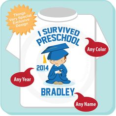 Personalized I Survived Preschool Shirt by ThingsVerySpecial