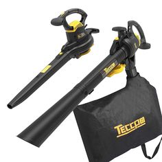 Leaf Blower Vacuum, TECCPO 12-Amp 250MPH 410CFM 3 in 1 Corded Electric Two-Speed Professional Sweeper/Vac/Mulcher with Powerful Motor and Metal Blade - TABV01G Thatching Lawn, Circular Saw For Sale, Best Lawn Mower, Cordless Drill Reviews, Garden Power Tools, Power Motors, Cordless Circular Saw, Lawn Maintenance, Leaf Blower