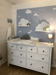 wickelaufsatz wolke 7 fur ikea hemnes songesand kommode fur hemnes - The world's most private search engine Baby Bedroom, Baby Boy Rooms, Baby Room Decor, Baby Boy Nurseries, Nursery Room, Kids Bedroom, Nursery Decor, Ikea Nursery, Ikea Baby Room