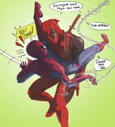 33 Mejores Imágenes De Deadpool Spiderman Deadpool X Spiderman