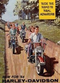 Bikers in 1964 motorcycle-stuff