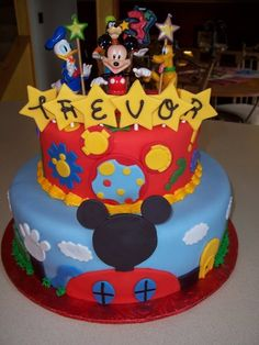mickey mouse birthdaycake