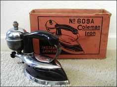Coleman Gas Iron Model Vintage by SusansShopSelections Antique Items, Vintage Items, Theatre Props, Vintage Home Accessories, How To Iron Clothes, Household Chores, Better Day, Irons, Appliance