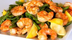 Roasting green beans and shrimp together is a super tasty way to make a fast and easy weeknight meal that only uses one pan (less dishes - yay!).  Try serving this over some fresh cooked quinoa or brown rice.