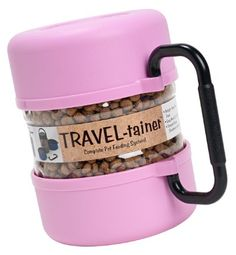 Amazon.com: Gamma2 Pet Travel Tainer Bowl, Pink: Pet Supplies