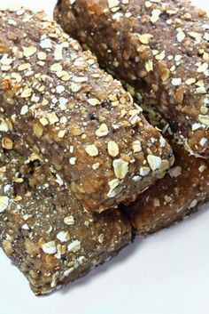 Protein Bar Recipes | Homemade Protein Bars... I added bananna and a little cinnamon and baked for ten mnutes.