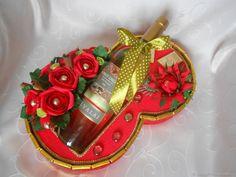 """Купить Тематическое Оформление вина """"Восьмёрка"""" - подарочный набор, подарок для девушки, сладкий подарок"""