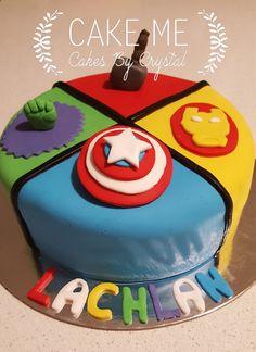 Superhero First Birthday, Soccer Birthday Cakes, Avengers Birthday Cakes, Superhero Theme Party, Themed Birthday Cakes, First Birthday Cakes, 7th Birthday, Birthday Party Themes, Birthday Ideas