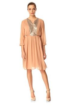 Rachel Silk Flared Dress -  French Connection - $163.99
