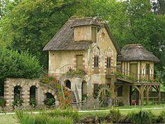 Le hameau de la Reine Marie-Antoinette-The Queen's Hamlet is a rustic retreat in the park of the Château de Versailles built for Marie Antoinette in 1783 near the Petit Trianon in the Yvelines, France