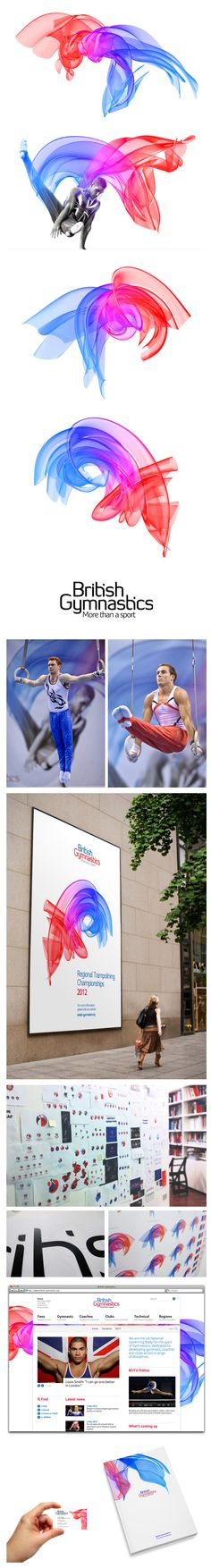 Not a fan of the type but interesting campaign. British Gymnastic ID by BEAR London