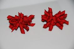 Set of 2 in Christmas Red Korker Bow Ponytail Holder/Toddler Ponytail/Pigtails/Christmas Hair Clips. $7.00, via Etsy.