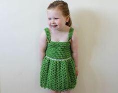 Crochet dress PATTERN  Darling Dress baby por monpetitviolon